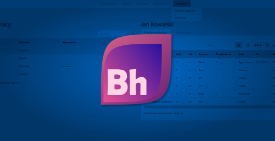 Baner modułu BHP przedstawiający jego ikonkę na tle programu