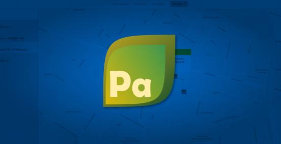 Baner modułu Parkingi przedstawiający jego ikonkę na tle programu